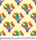 Vintage floral vector bouquet garden flower seamless pattern background botanical natural 41265565