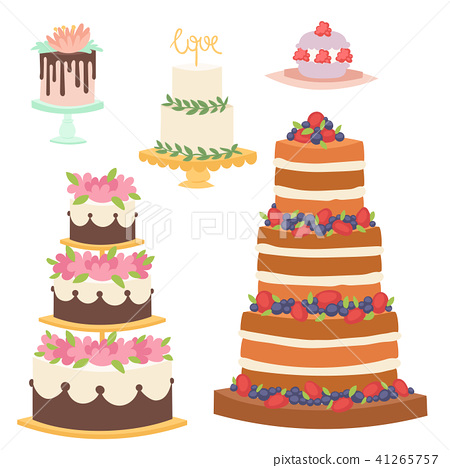Wedding cakes fresh tasty dessert sweet pastry pie gourmet homemade delicious cream traditional 41265757