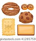 Cookie vector cakes top view sweet homemade breakfast bake food biscuit bakery cookie pastry 41265759