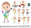 Behind knot hair yellow wear women_pop music 41265941