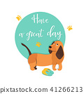 Bright card with cute hound and text 41266213