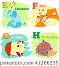 Cartoon Illustration of Colorful English Alphabet  41266235