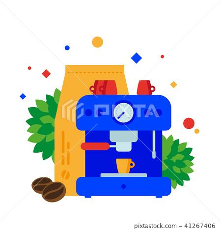 Preparation of coffee using the coffee machine. 41267406