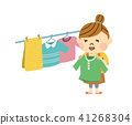 A woman hanging up the laundry 41268304