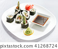 sushi with soy sauce 41268724