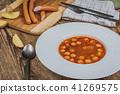 Frankfurt soup with sausage 41269575