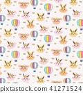 Princess Bunny Pattern Background For Kids. 41271524