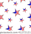 Usa flag in star shape seamless pattern.  41272121