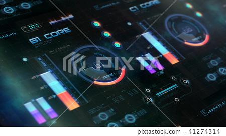 Futuristic air or space craft control board 41274314