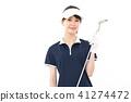 젊은 여성 골프 41274472