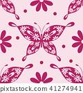 Beautiful seamless pattern with butterflies 41274941