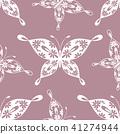 Beautiful seamless pattern with butterflies 41274944