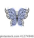 Beautiful butterfly with swirl pattern. 41274946