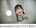 미소, 한국인, 젊은여자 41276661
