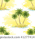 Island with Palms Seamless 41277414