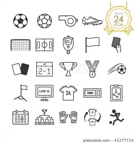Set of soccer or football icon on white background 41277714