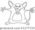 outlined happy mouse 41277724