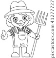 outlined young farmer 41277727