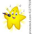 Mascot Star Singer Illustration 41277919