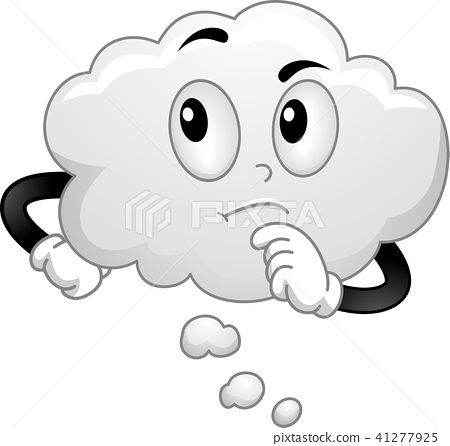 Mascot Thinking Cloud Illustration 41277925