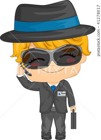 Kid Boy Agent Illustration 41278017