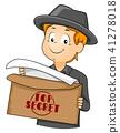 Kid Boy Agent Top Secret Envelope Illustration 41278018
