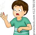 Kid Boy Burn Illustration 41278019