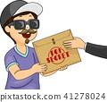 Kid Boy Give Top Secret Envelope Illustration 41278024