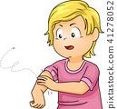 Kid Boy Mosquito Bite Illustration 41278052