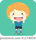 Kid Boy Tongue Pronounce Illustration 41278059