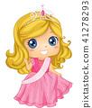 Kid Girl Beauty Queen Costume Illustration 41278293