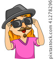 Kid Girl Disguise Illustration 41278296