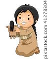 kid, girl, indian 41278304