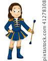 kid, girl, majorette 41278308