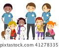 Stickman Kids Animal Shelter Pets Illustration 41278335