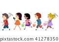 Stickman Kids Paint Tools Mural Illustration 41278350
