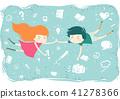 Kids Float Learning Elements Illustration 41278366