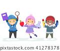 Stickman Kids Education Winter Illustration 41278378