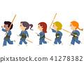 Stickman Kids Kendo Illustration 41278382