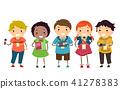Stickman Kids Little Journalist Illustration 41278383
