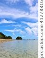 Okinawa ท้องฟ้าสีฟ้าอ่าว Kawahira 41278816