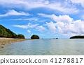 Okinawa ท้องฟ้าสีฟ้าอ่าว Kawahira 41278817