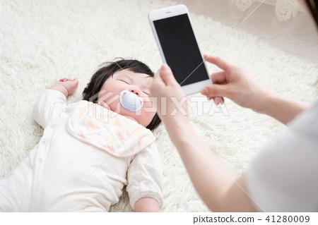 嬰兒和媽媽,攝影,射擊,sns,記錄 41280009