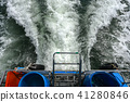 Water wave from the boat. 41280846