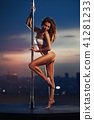 Young pole dancing woman 41281233