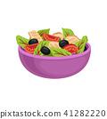salad, bowl, vector 41282220