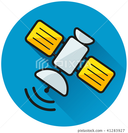 satellite circle blue icon concept 41283927