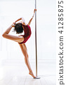 Pole dance woman 41285875
