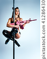 Woman poledancing 41286430