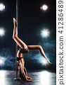 Pole dancing woman 41286489